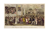 Tom, Jerry and Logic in Characters at the Grand Carnival, from 'Life in London' by Pierce Egan,… Giclee Print by I. Robert & George Cruikshank