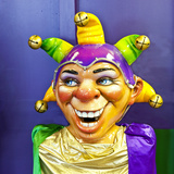Mardi Gras World Joker, New Orleans, Louisiana, USA Photographic Print by Joe Restuccia III