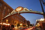 Gateway Arch, Gaslamp Quarter, San Diego, California, USA Photographic Print by Peter Bennett