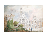 Facade of the Old Church of Saint-Genevieve and Saint-Etienne-Du-Mont, 1807 Giclee Print by Mme. Duchateau
