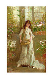 Girl in a Conservatory Giclee Print by Alexander M. Rossi