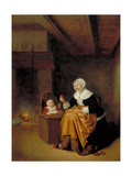 Mother and Child in an Interior, C.1660 Giclee Print by Quiringh Gerritsz. van Brekelenkam