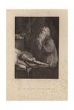 Elijah Raising the Widow's Son Giclee Print by Rembrandt Harmensz. van Rijn