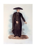 A Doctor of Salamanca, Illustration from 'sketches of the Country, Character, and Costume, in… Giclee Print by Rev. William Bradford