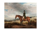 Equestrian Portrait of Andrew Berkeley Drummond in Cadland Park, 1822 Giclee Print by John E. Ferneley
