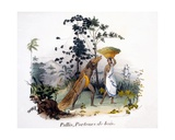 Pallis, the Wood-Carrier, 1827-35 Giclee Print by M.E. Burnouf