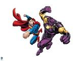 Superman: Superman Vs Mongul Prints