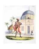 A Falconer with His Bird, 1827-35 Giclee Print by M.E. Burnouf