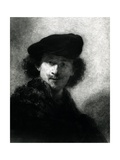 Self Portrait with a Velvet Beret Giclee Print by Rembrandt Harmensz. van Rijn