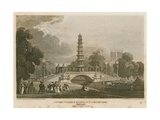 The Chinese Pagoda and Bridge Erected over the Canal in St James's Park as it Appeared on 1… Giclee Print by Pieter Jansz. Quast