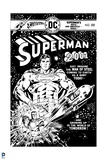 Superman: Superman 2001 No. 300 (Black and White) Print