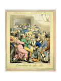 Crowding to the Pit from 'Theatrical Pleasures' Pl. 1, 1821 Giclee Print by G. Humphrey