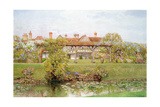 Great Tangley Manor, Surrey, with the Lily Pond and Covered Walk Giclee Print by Thomas H. Hunn