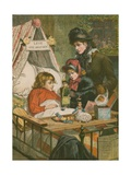 Christmas Comes But Once a Year: a Scene at the Evelina Hospital Giclee Print by Charles J. Staniland