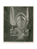 West View of the Choir of St Saviour's Church, Southwark, Surrey Giclee Print by C. John Mayle Whichelo