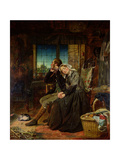 The Vacant Cradle, 1858 Giclee Print by Thomas P. Hall