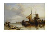 A Scene Near Monnikendam on the Zuyder Zee Giclee Print by Clarkson R.A. Stanfield