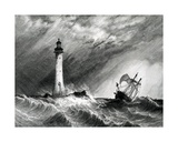 Eddystone Lighthouse, Print Made by W.B. Cooke, 1836 Giclee Print by Clarkson R.A. Stanfield