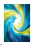 Justice League: Swirl of Blue and Yellow Light Prints