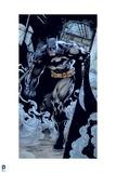 Batman: Batman Walking Through a Building with Smoke at His Feet Art