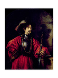 Portrait of a Man in Military Costume, 1650 Giclee Print by  Rembrandt van Rijn