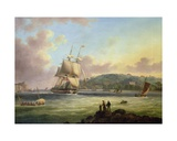 H. M. S. 'Pallas' Entering Plymouth Harbour Giclee Print by Thomas L. Hornbrook