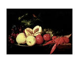 Still Life of Fruit with a Lobster Giclee Print by Jan Davidsz. de Heem