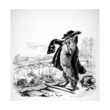 The Wolf Turned Shepherd, Illustration for 'Fables' of La Fontaine (1621-95), Published by H.… Impression giclée par J.J. Grandville
