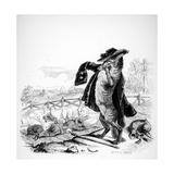 The Wolf Turned Shepherd, Illustration for 'Fables' of La Fontaine (1621-95), Published by H.… Gicléedruk van J.J. Grandville