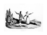 The Boleras Dance, Illustration from 'sketches of the Country, Character, and Costume, in… Giclee Print by Rev. William Bradford