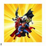 Justice League: Superman, Flash, Green Lantern, and Batman Art