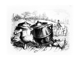 The Two Pots, Illustration for 'Fables' of La Fontaine (1621-95), Published by H. Fournier Aine,… Giclee Print by J.J. Grandville