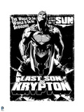 Superman: Superman: Last Son of Krypton (Black and White) Poster