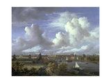View on the Amstel Looking Towards Amsterdam, C.1675-70 Giclee Print by Jacob Isaaksz. Or Isaacksz. Van Ruisdael