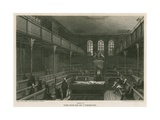 Interior of the House of Commons, Westminster, London Giclee Print by Pieter Jansz. Quast