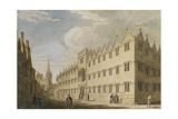 Oriel College, Oxford, with St. Mary's Church in the Distance Giclee Print by Thomas Malton Jnr.
