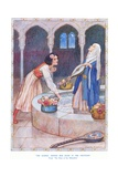 The Damsel Dipped Her Hand in the Fountain, Illustration from 'tales of the Alhambra' by… Giclee Print by Arthur A. Dixon