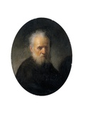 Bearded Old Man Giclee Print by  Rembrandt van Rijn