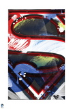 Superman: Superman Logo in the Style of an Abstract Painting Posters