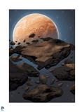 Superman: Planet Background Prints