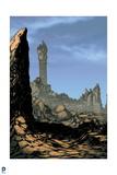 Superman: Destroyed Landscape (Color) Art