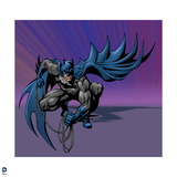 Batman: Batman Crouching with Rope Coiled in His Hands and Cape Flowing Behind Him Poster
