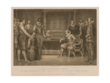 The Gunpowder Plot; Guy Fawkes Interrogated by King James I and His Council in the King's… Giclee Print by J.M.L. Ralston