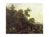 Wooded Landscape with Soldiers Escorting Prisoners, 1656 Giclee Print by Nicolaes Pietersz. Berchem