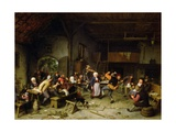 Peasants Dancing in a Tavern, 1675 Giclee Print by Adriaen Jansz. Van Ostade
