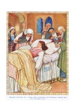 She Was Reclining on Couch with Attendants and Physicians around Her, Illustration from 'tales of… Giclee Print by Arthur A. Dixon