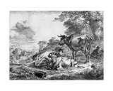 Three Cows Giclee Print by Nicolaes Pietersz. Berchem