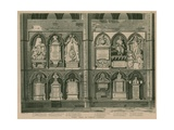 West Side of Poets Corner, Westminster Abbey, London Giclée-Druck von H. Villiers