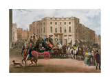 The Age, Brighton Coach at the Bull and Mouth, Regent Circus, Piccadilly, Engraved by G.V.C.… Giclee Print by E. F. Lambert