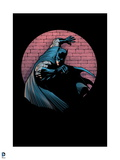 Batman: Batman Against a Brick Wall One Hand on the Wall Other in Front of Him Posters